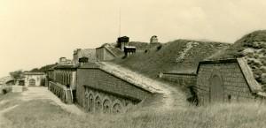 La cour du fort en 1959